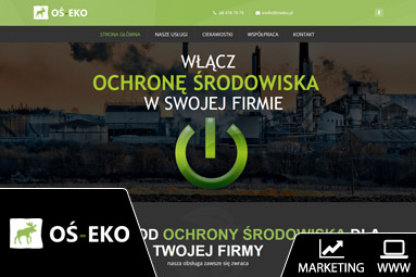 zielona góra strona internetowa oś eko