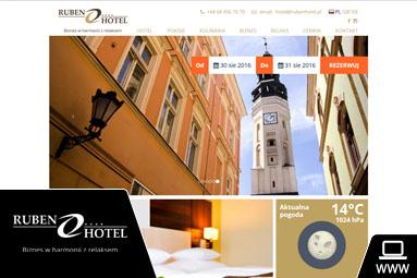 strona internetowa hotelu ruben